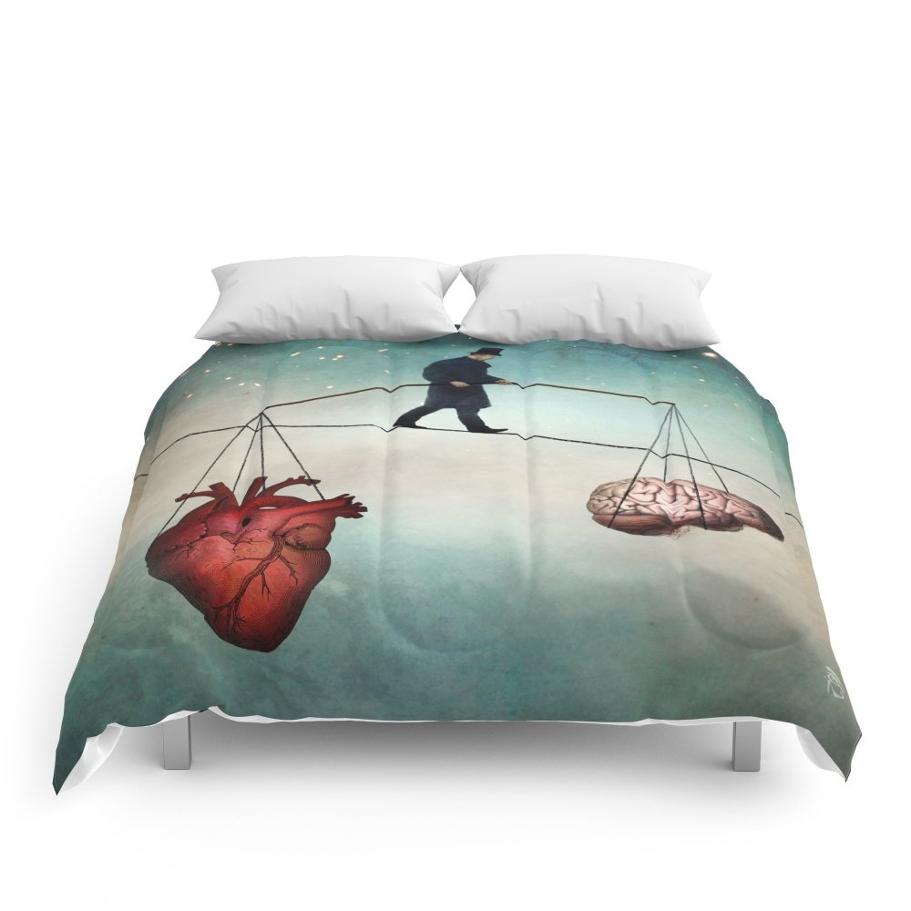 Society6 The Balance Comforters Queen: 88'' x 88'' by Society6