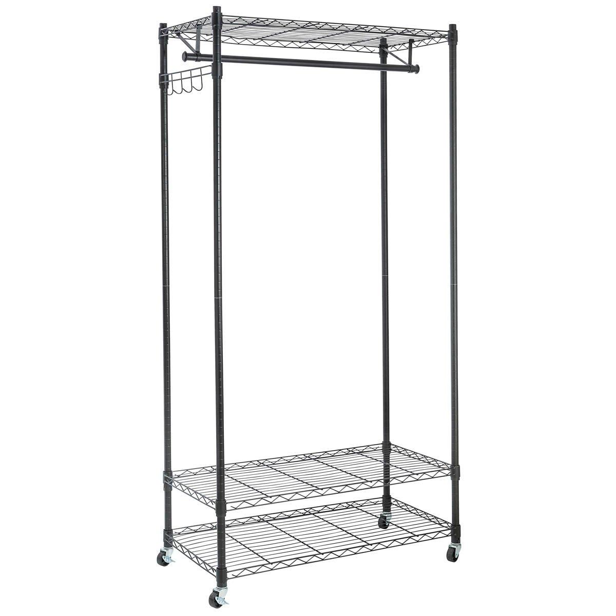 Amazon.com: Home-it Wire Shelving Garment Rack on Wheels - Black ...
