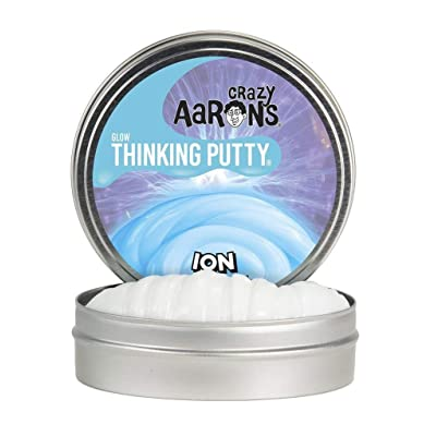 "Crazy Aaron's Thinking Putty 4"" Tin - Ion - Glow-in-The-Dark Putty, Firm Texture - Non-Toxic, Never Dries Out: Toys & Games"