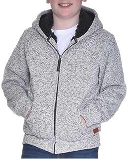 6f62a7165e073 Weatherproof Vintage Boy's Full Zip Sherpa Lined Hooded Jacket (Grey  Heather, ...