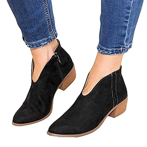 78202528c448 Mid Heel Shoes Women Leather Block Chunky Heeled 4 cm Ankle Boots Summer  Loafer Flat Leopard