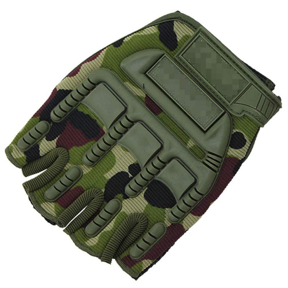 YIWANGO Halbe Fingerhandschuhe Für Herren Outdoor Sports Ride Protective Fitness Training Handschuhe,2-OneGröße