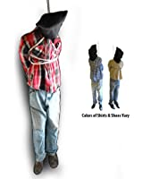 6 Foot Tall Hanging Man Scary Haunted House Halloween Life Size Prop