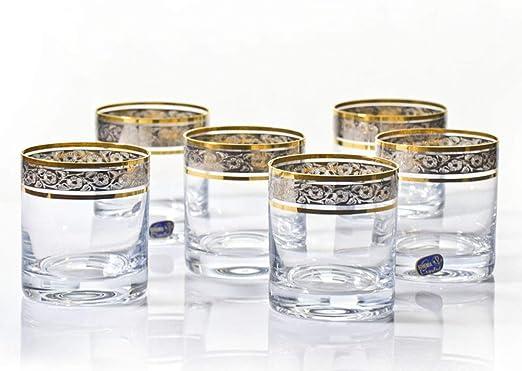 Vasos de whisky de cristal – juego de 6 por Bohemia 9.7oz/280 ml ...