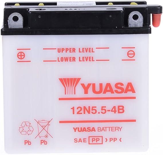 Batterie 12v 5 5ah 12n5 5 4b Blei Säure Yuasa Ohne Säurepack Auto