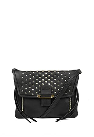 Kooba Handbags Reed Studded Mini Convertible Crossbody, Black with Gold c355b47abd