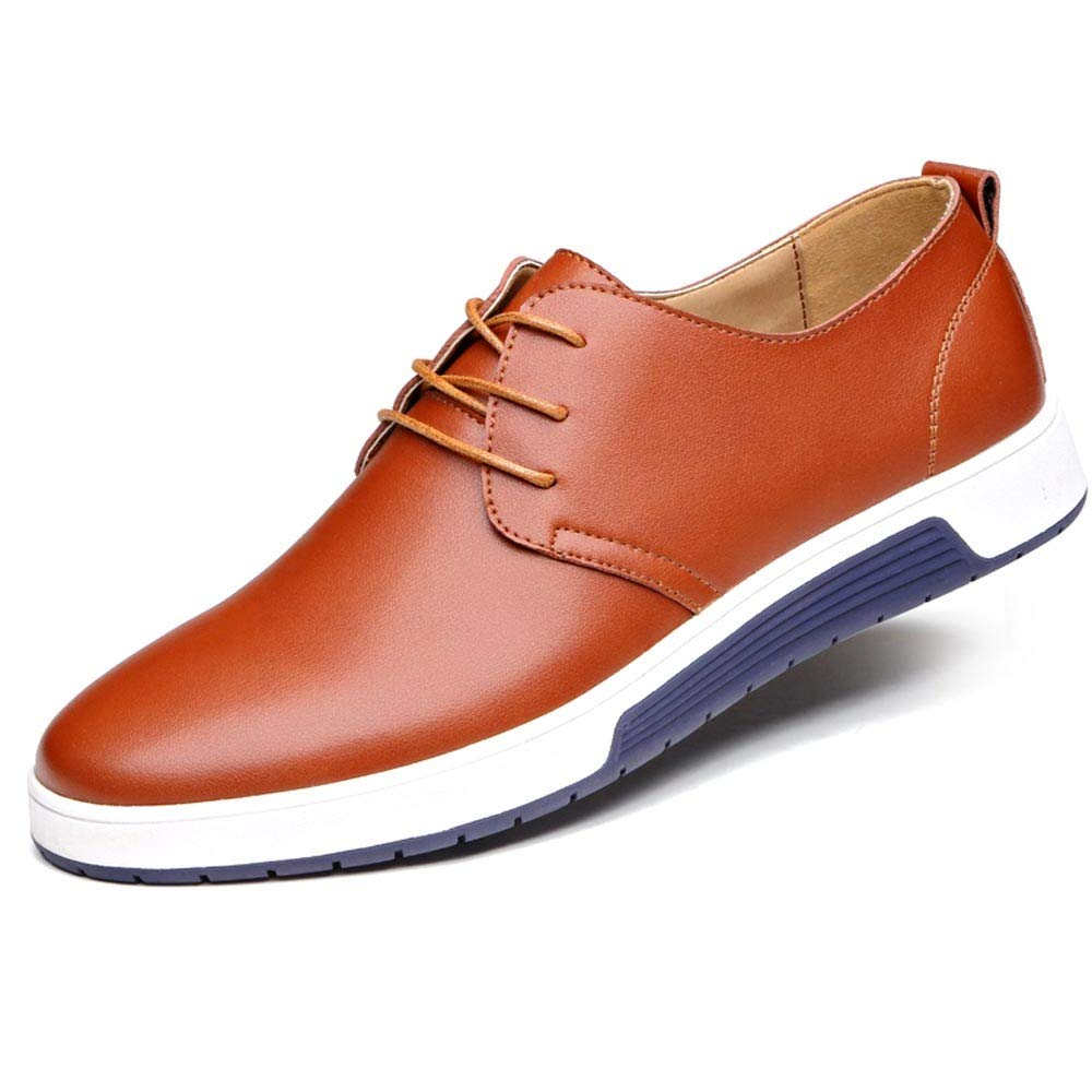 9729be790e221 Amazon.com: Mens Hollow Solid Leather Shoes Men's Summer Breathable ...