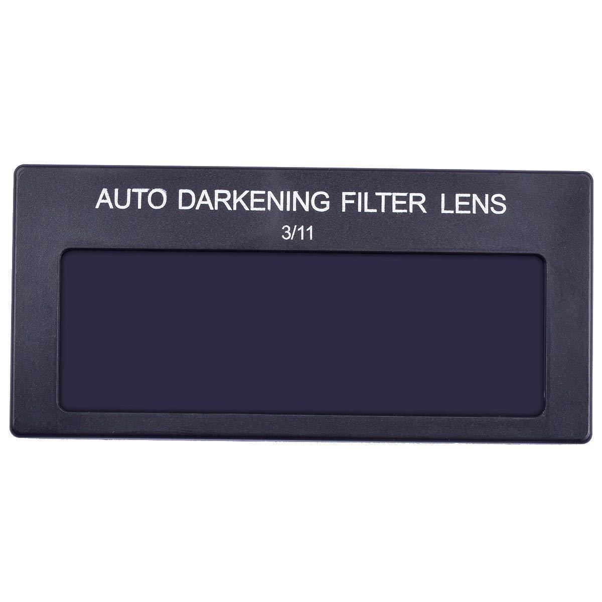 Mask Lens Automation Filter Shade Eyes Lens Helmet Filter Shade,3//11 4 X 2 Solar Auto-Darkening Welding Filter Lens 2-Pack,Variable Shade Horizontal Filter