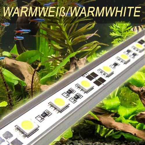 LED Aquariumbeleuchtung PowerLED easy Leuchte Lampe 90cm (warmweiss) Tageslichtsimulator Sonnenuntergang Mondlicht HQI T8 AB5WW