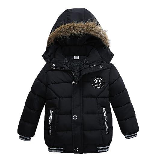 e3608005f Amazon.com  KONFA Baby Boys Girls Classic Cotton Padded Hooded Coat ...