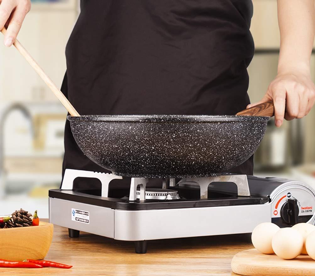 WYQSZ Wok - home flat wok non-stick pan less smoked kitchen cooking multi-function wok -fry pan 2365 (Design : B) by WYQSZ (Image #7)