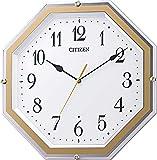 リズム時計工業(Rhythm) 掛け時計 白 30.5x30.5x4.8cm シチズン 電波時計 アナログ 連続秒針 八角 8MY544-003
