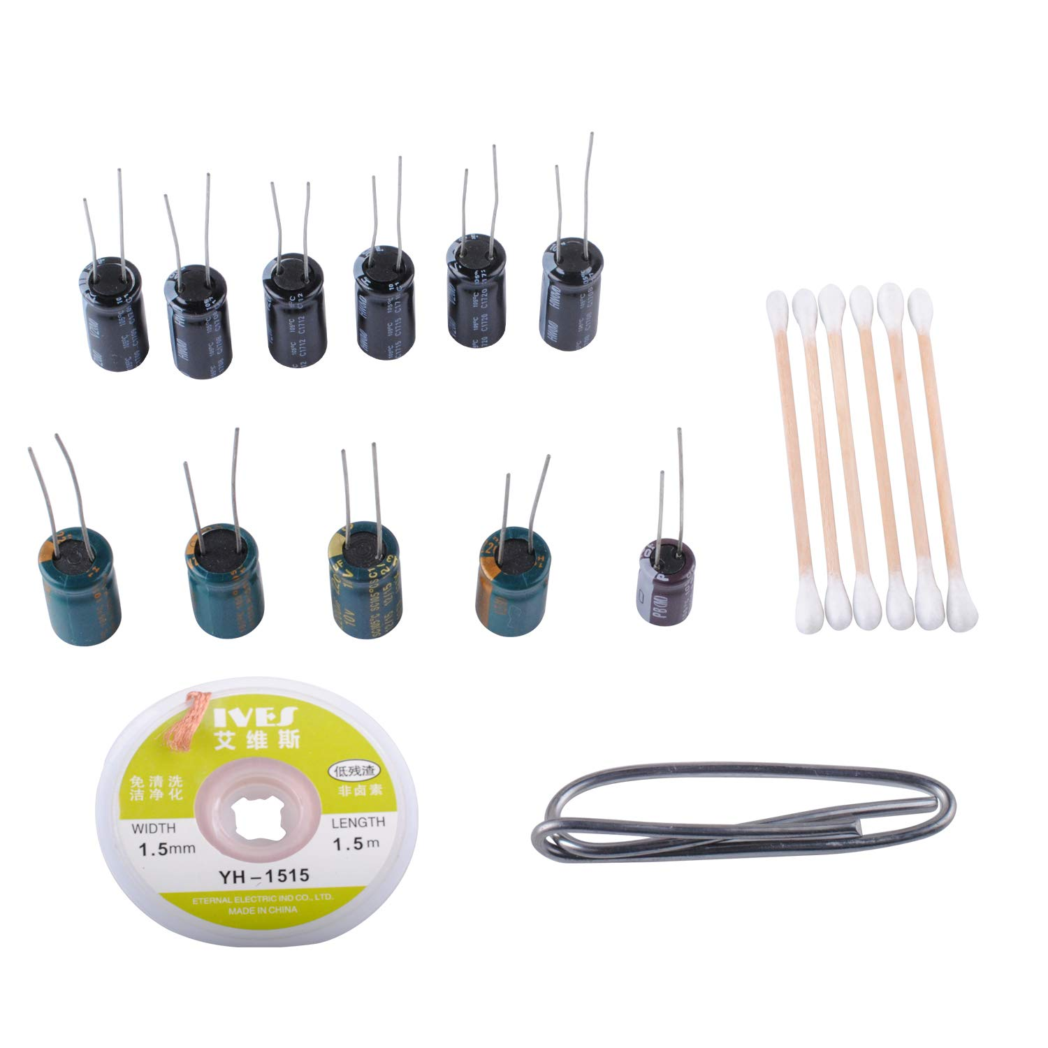 Replace Samsung Lcd Plasma Tv Capacitor Repair Kit 1000uf 25v6 What Device Is Used To Check Capacitors In Electronic Circuits Pieces 2200uf 10v4 And 220uf 25v1 Piece Temperature