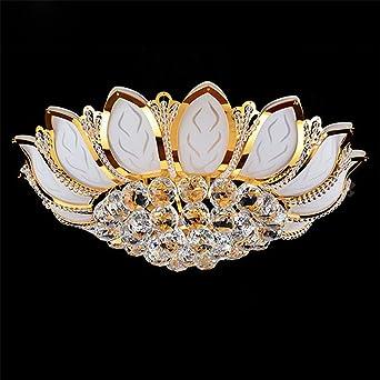 Moderne Kreis Uns Gold Kristall Lampe Deckenleuchte Wohnzimmer Led