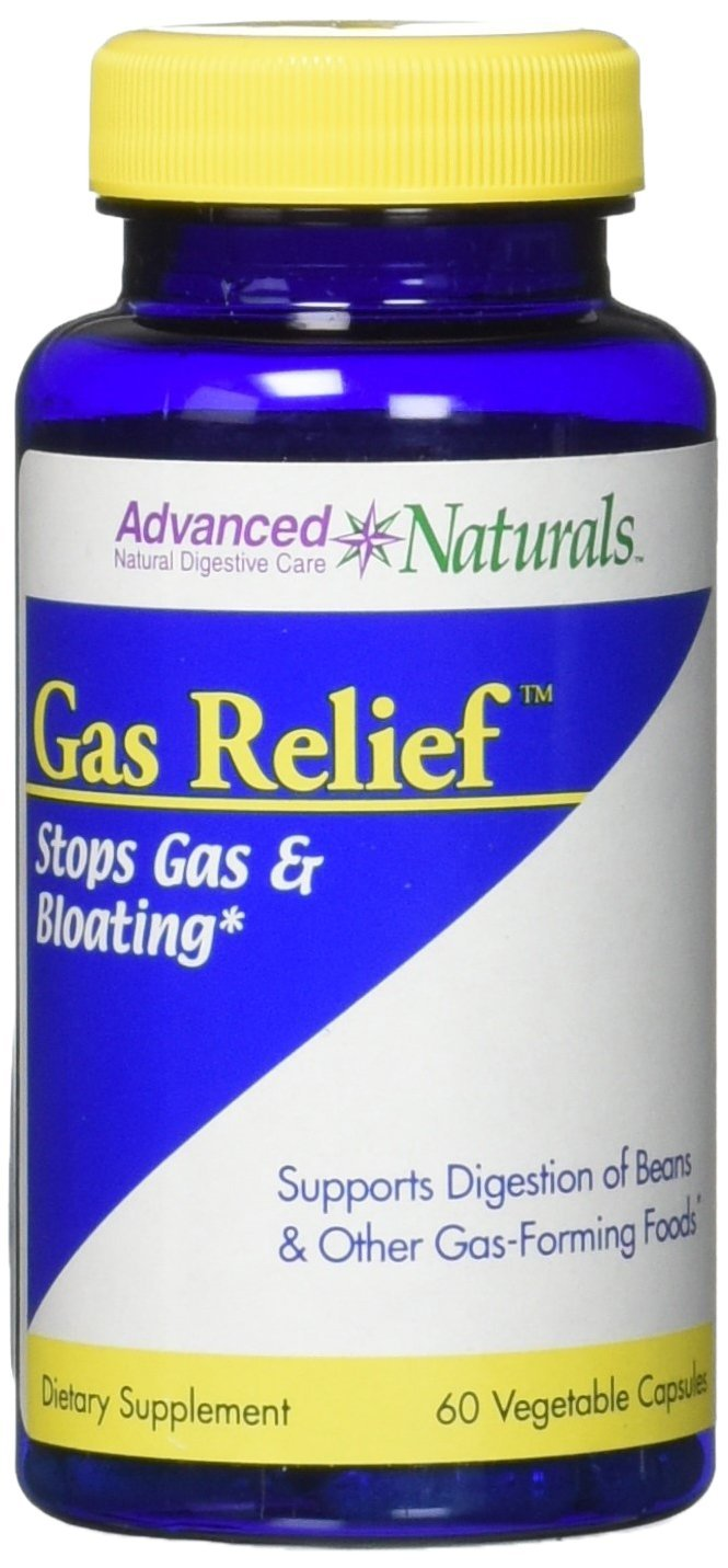 Advanced Naturals Gas Relief Caps, 60 Count
