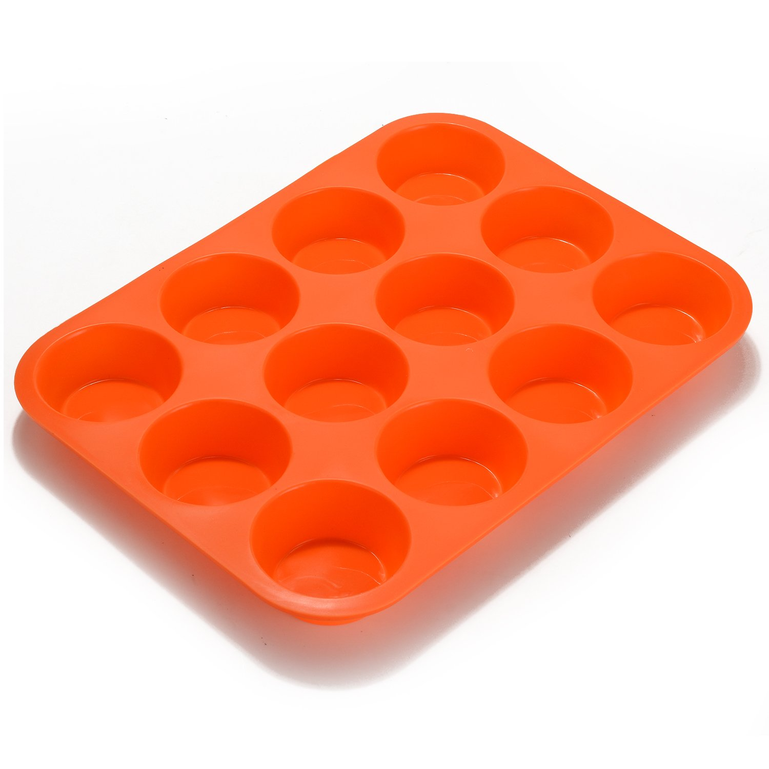 FITNATE Bakeware Silicone Muffin Pan 12 Cup, BPA-free, Non Stick by FITNATE (Image #1)