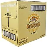 Kirin Ichiban Beer Bottles, Large, 500 ml, Pack of 12