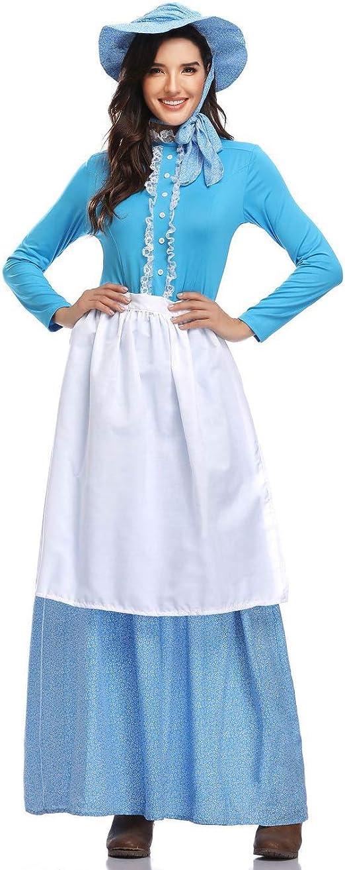 YCLOTH Disfraz de Halloween para Adultos, Ropa de Mujer Pastoral ...