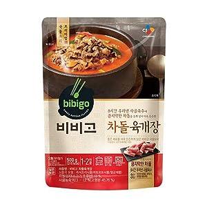 [ 8 Packs ] CJ Bibigo Korean Beef Brisket Yukgaejang Hot Spicy Meat Stew 육개장 500g