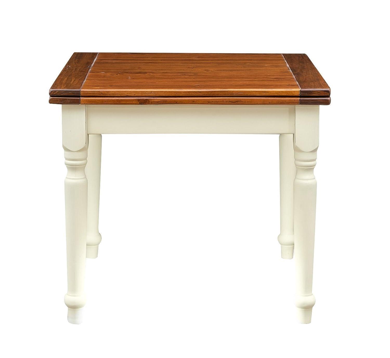 Klappbarer Tisch Ausziehbare Solide Holz Antik Land Weiß En Kalk
