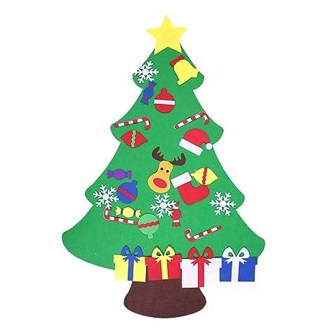 Kaimus fai da te albero di Natale feltro con ornamenti per i regali ...