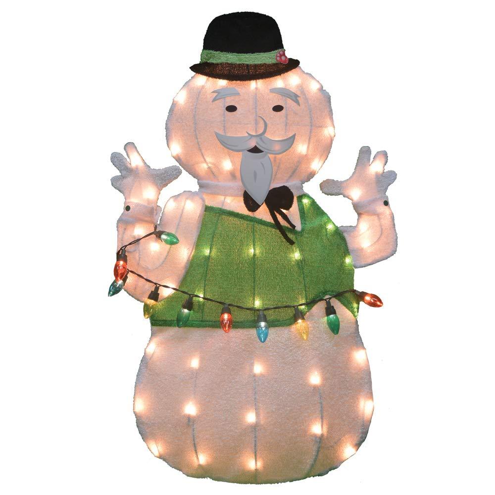 32'' Rudolph 2D Pre-Lit Yard Art Sam The Snowman