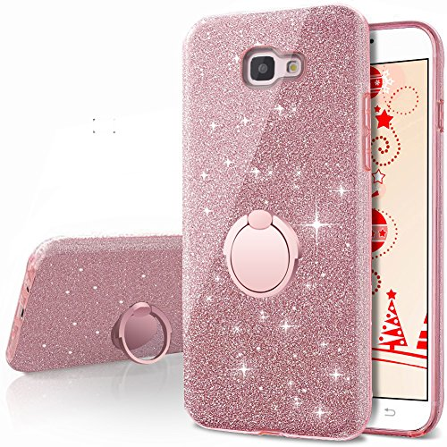 best sneakers b2d14 eb852 Galaxy J7 Prime (2016) G610 Case, Galaxy On7 2016 Case, (NOT FIT J7 Prime  (2017) Tmobile/Metro PCS version), Silverback Bling Glitter Case With 360  ...