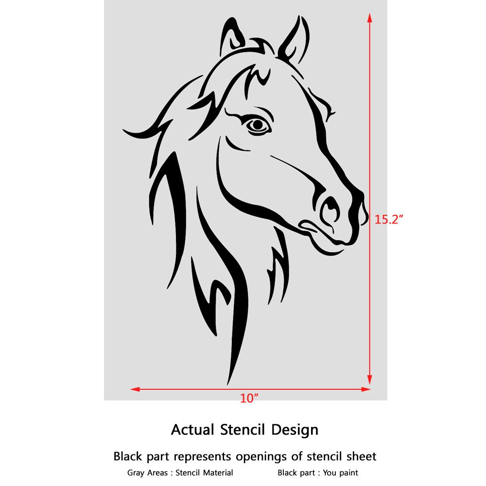 Horse wall stencils image collections home wall decoration ideas amazon j boutique stencils horse head animal wall stencils amazon j boutique stencils horse head animal amipublicfo Gallery