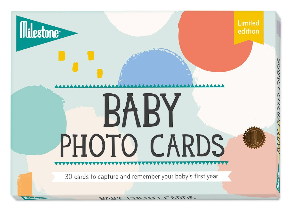 Milestone-Baby Cotton Candy Photo Cards, One Size MBCLE
