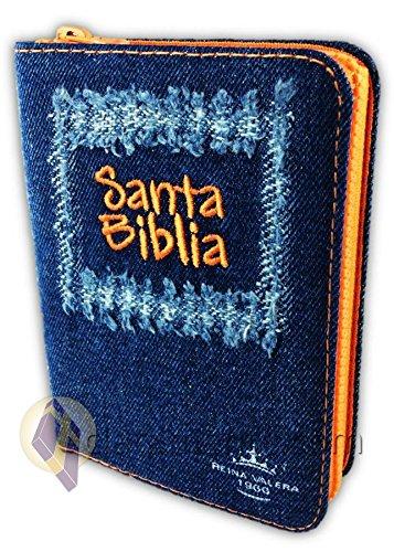 Santa Biblia Jean Compacta con cierre, Reina-Valera 1960, tela jean, anaranjado pdf
