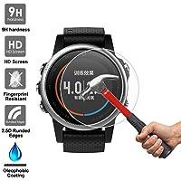 pour Garmin Fenix 5/5S/5X GPS Watch,Cooljun Protecteur d'écran de Montre,2pcs 9H + Protecteur d'écran en Verre trempé Film de Protection