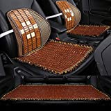 Lqqzq Cushion Adult Car Seat Cushion, Summer Bamboo Mahjong Piece Mat Car Seat Backrest Breathable Refreshing Seat Cushion (3 Pieces) Cushion (Color : C)