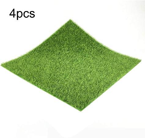 Natural 30cm de Hierba Artificial Verde Alfombra Artificial césped alfombras de césped Falso césped de jardín de Musgo for el hogar decoración de la Boda del Piso para Jardines (Color : 4pcs):