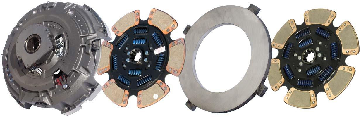 IATCO 107935-94-IAT 15-1/2'' x 2'' Angle Spring Clutch (Two-Plate, 6-Paddle / 9-Spring, 4000 Plate Load / 1850 Torque, Dual-Zerk, MACK) by IATCO
