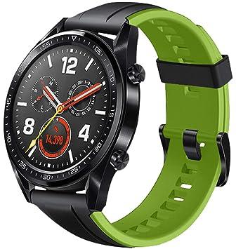 Cobar Watch Band Replacement for Huawei Watch GT, 22mm Lanzamiento rápido Ajustable Blanda Silicona Banda de Reloj Correa de Repuesto para Huawei ...