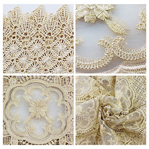 Ieasycan Lace Table Cloth Round Polyester Tablecloths Table Cover Wedding Party Restaurant Banquet Home Decoration