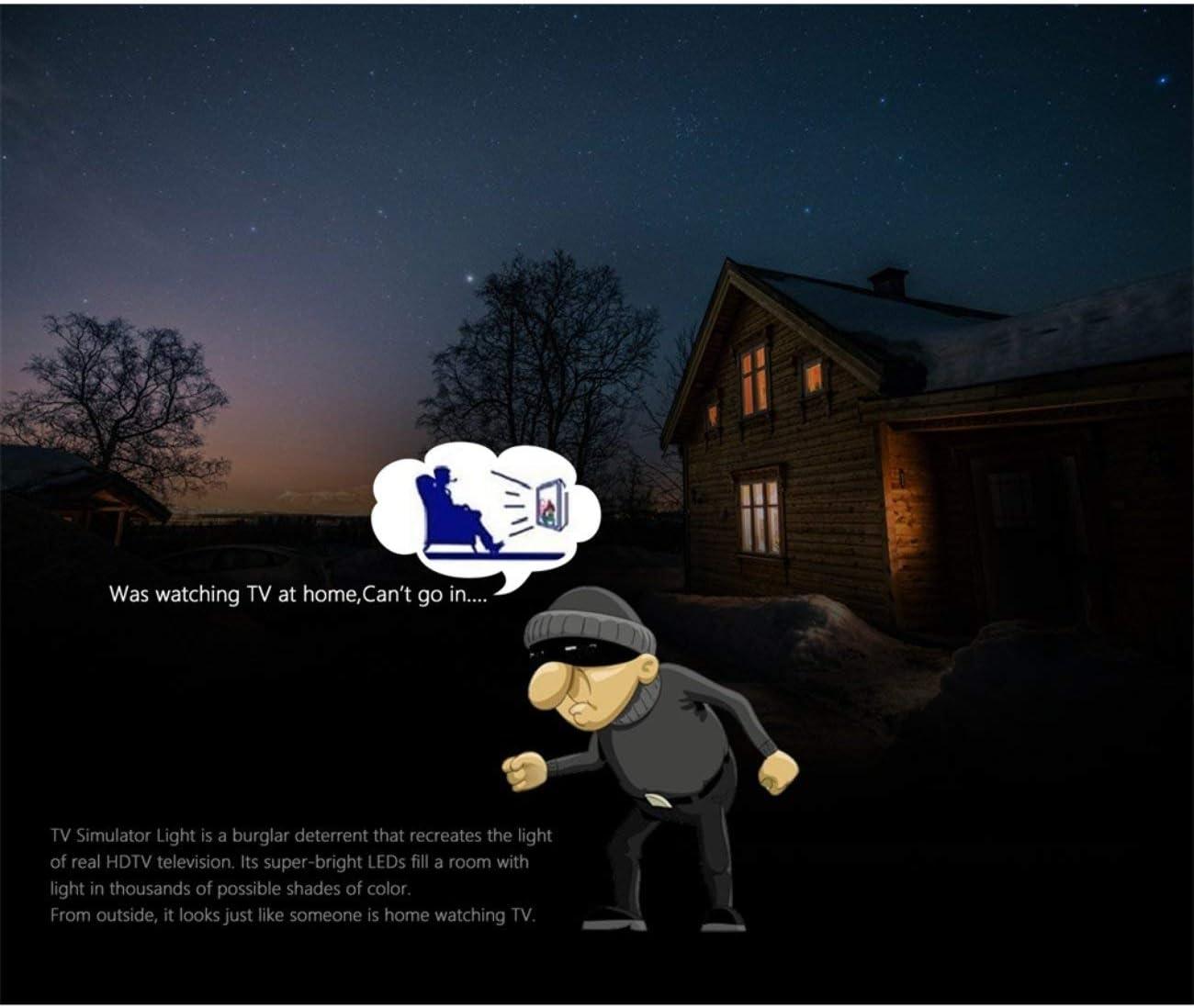 La luz del simulador de TV Disuasor de Intrusos antirrobo Brillante simula un Dispositivo de prevención de Ladrones LCD/HDTV de 40 Pulgadas por Dropcessories: Amazon.es: Bricolaje y herramientas