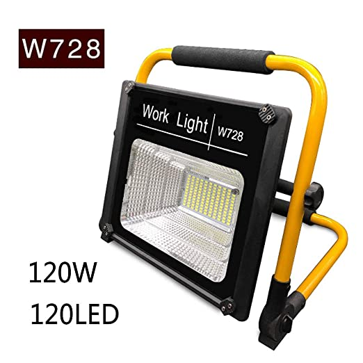 dami Foco LED Proyector, Camping 120W, Lámpara Proyector 120LED ...