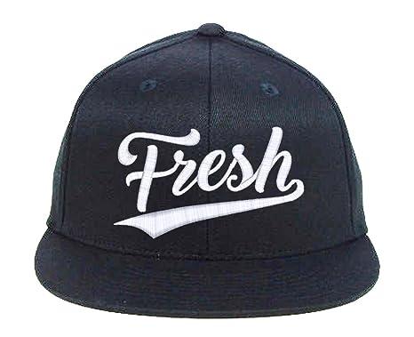 Amazon.com  I-Mall Fresh Snapback-Black  Clothing a1ea19b3e14
