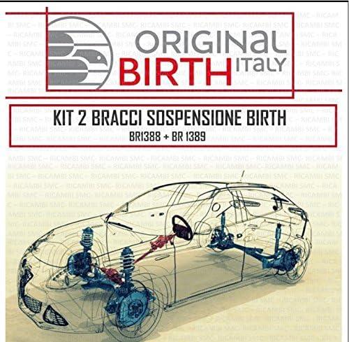 KIT 2 BRACCI OSCILLANTI SOSPENSIONE ANTERIORI INFERIORI BIRTH ALFA 147 156 GT