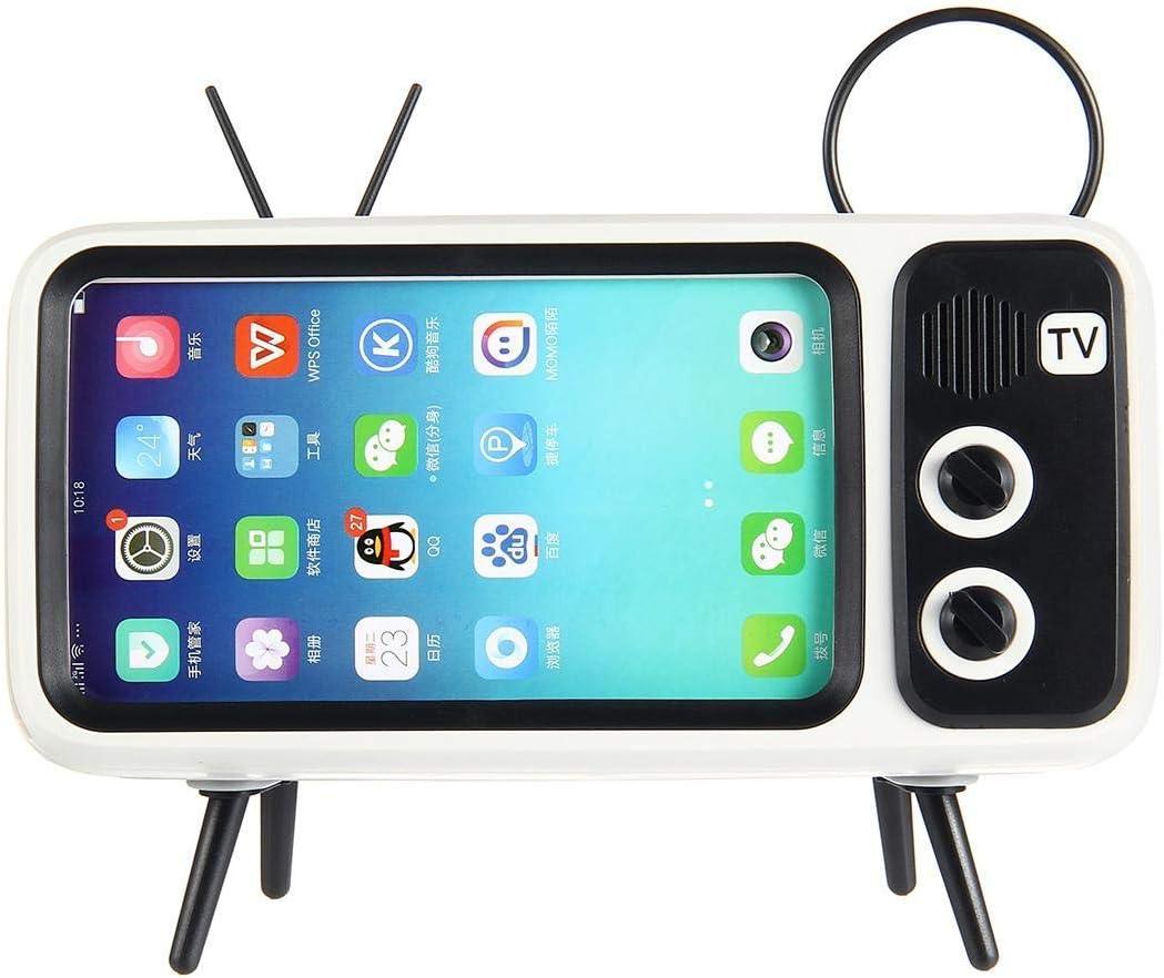 Amazon Com Retro Tv Bluetooth Speaker V4 2 Vintage Wireless Radio Cell Phone Holder