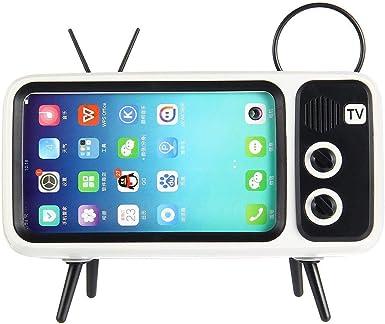 Retro TV Altavoz Bluetooth V4.2 Vintage inalámbrico Radio teléfono Celular Titular: Amazon.es: Electrónica