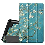 FINTIE Slim Case for All-New Amazon Fire 7 Tablet (7th Generation, 2017 Release), Ultra Lightweight Slim Shell Standing Cover with Auto Wake/Sleep, Blossom