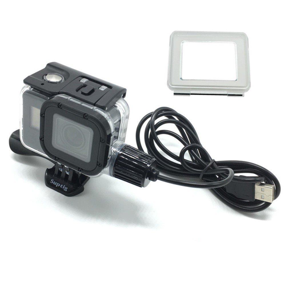 ahongem GoPro 5 6 50 m Underwater Housing防水ケース充電シェル/ボックスfor GoPro Hero 5 /6カメラアクションカメラ   B07DXK26ZD
