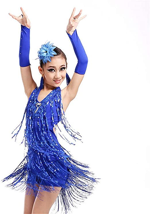 Faldas de danza para niña, Niñas Vestido de baile latino Niños Sin ...