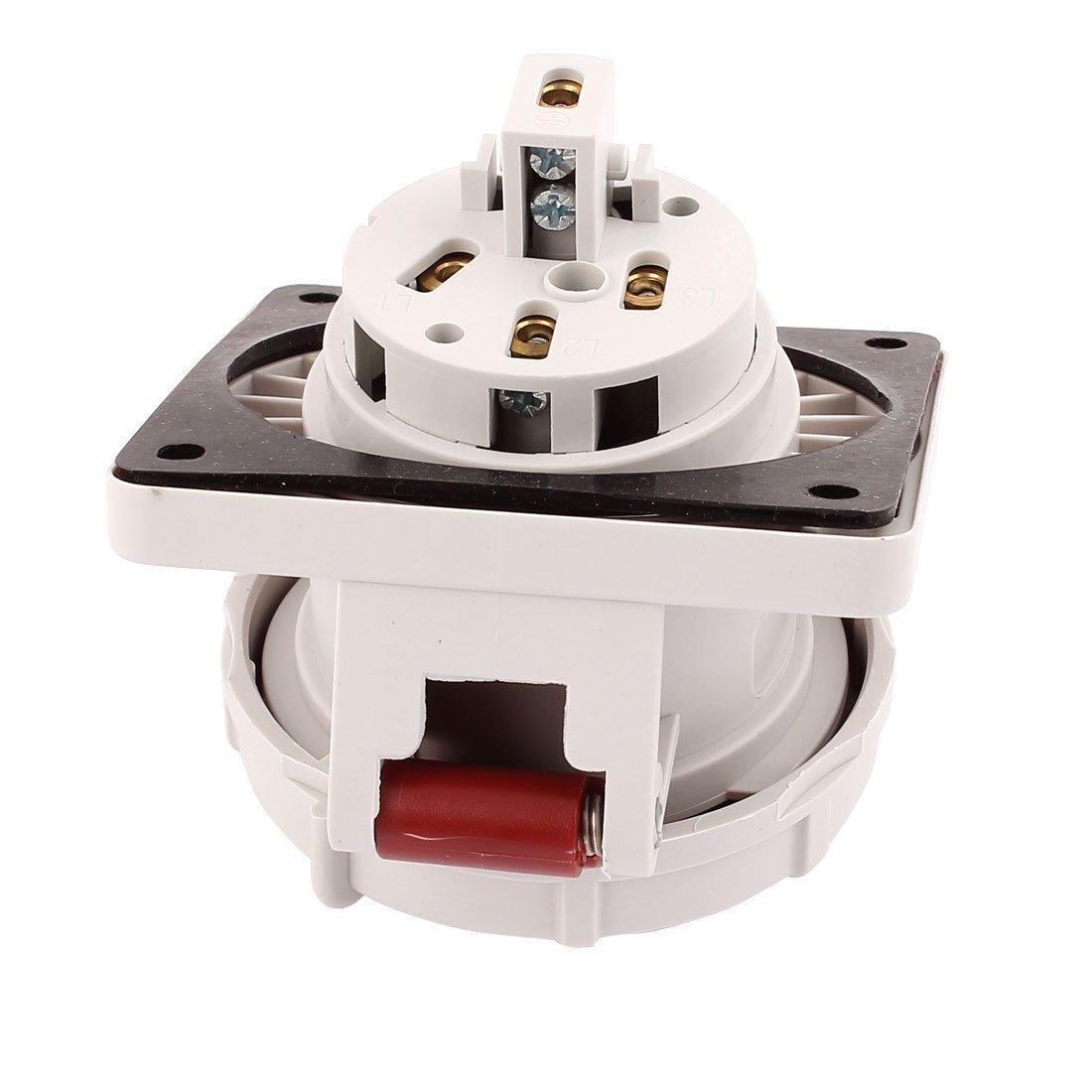 eDealMax AC 380V-415V 16A IP67 3P + T 4-terminal hembra oblicua Industrial Socket - - Amazon.com