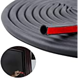 19.7 Feet Long Weather Stripping Seal Strip for Doors/Windows, Self-Adhesive Backing Seals Large Gap (from 5/16 inch to 11/20