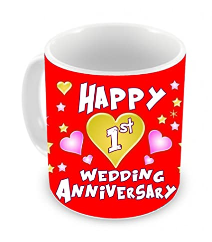 Buy Tiedribbons 1st Wedding Anniversary Gift Coffee Mug 325ml White Online At Low Prices In India Amazon In