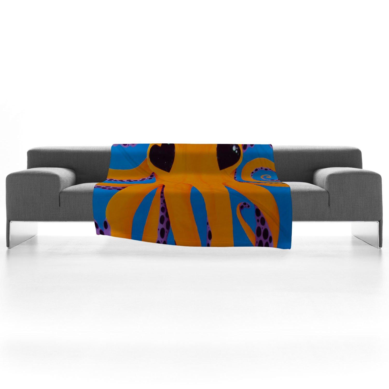 Deny Designs Mandy Hazell Wish I Was An Octopus Fleece Throw Blanket 30 x 40 13166-flesma