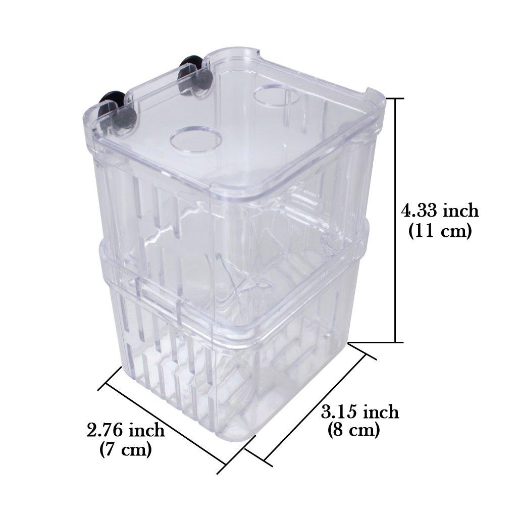 ETGtek TM 1pcs multifunzionale dei pesci di allevamento di isolamento di sicurezza Hanging Fish Tank Incubatore Acquario accessori